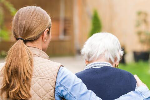 Illustrasjonsbilde av demens og pårørende