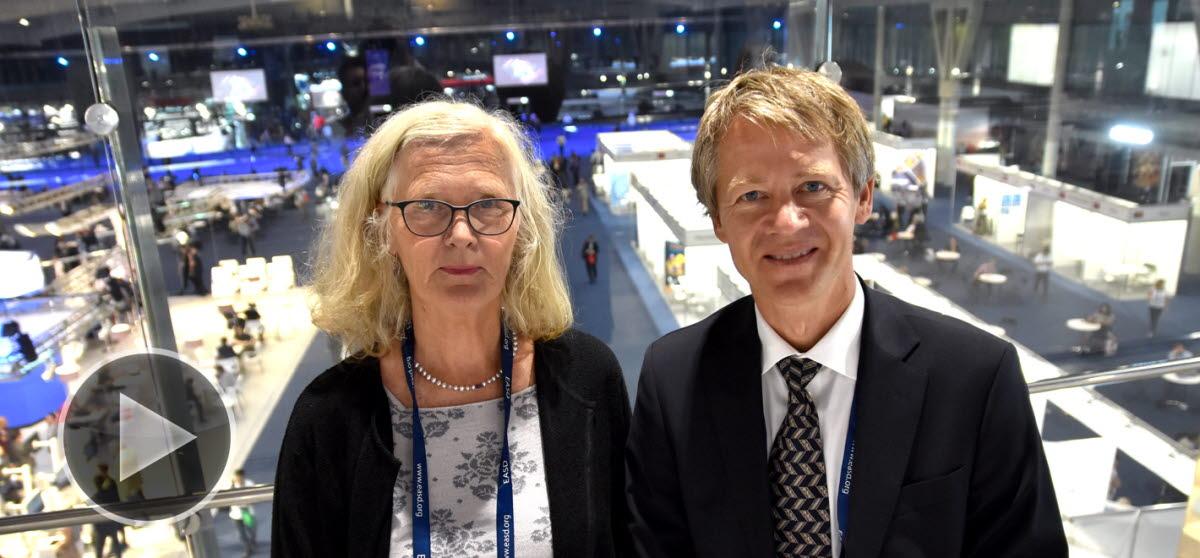 Bilde av Dag Hofsø og Anne Karen Jenum - EASD 2019