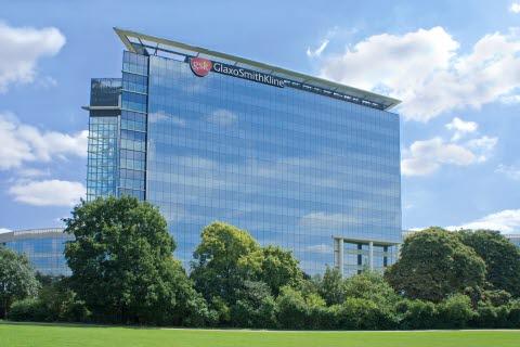 Bilde av GSKs hovedkvarter i England