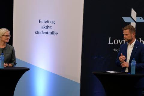 Helsepolitisk talsperson Ingvild Kjerkol (Ap), helseminister Bent Høie